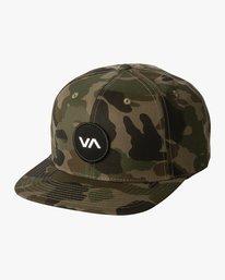 0 Boy's VA Patch Snapback Hat Brown BAHWWRVP RVCA