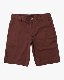 0 Boy's Weekday Stretch Shorts Red BC201WST RVCA