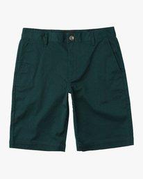 0 Boys Weekday Stretch Shorts Green BC201WST RVCA