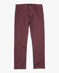 0 Boy's Weekday Straight Fit Stretch Pants Red BC301WDS RVCA