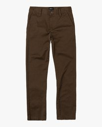 0 BOY'S WEEKDAY STRETCH straight fit PANT Brown BC301WDS RVCA