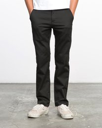 0 Boy's Weekday Stretch Pants Black BC301WDS RVCA