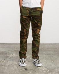 0 Boy's Weekday Stretch Pants Camo BC301WDS RVCA