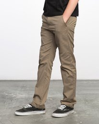 3 Boys WEEKDAY STRETCH straight fit PANT Grey BC301WDS RVCA