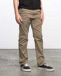 6 Boys WEEKDAY STRETCH straight fit PANT Grey BC301WDS RVCA