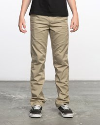 0 Boy's Weekday Stretch Pants Beige BC301WDS RVCA