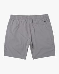 "1 VA Sport | Boy's Yogger III Running Shorts 15"" Grey BL204YGR RVCA"