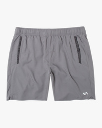 "0 VA Sport | Boy's Yogger III Running Shorts 15"" Grey BL204YGR RVCA"