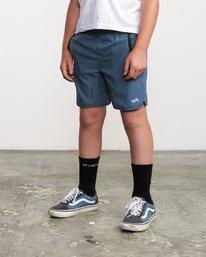 """3 Boys Yogger 3 15"""" Short Blue BL204YGR RVCA"""