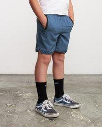 """6 Boys Yogger 3 15"""" Short Blue BL204YGR RVCA"""