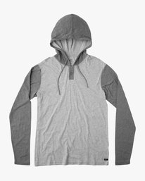 0 Boy's Pick Up Knit Hoodie Grey BL904PUH RVCA