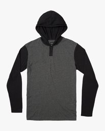 0 Boys Pick Up Knit Hoodie Grey BL904PUH RVCA