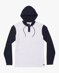 0 Boy's Pick Up Knit Hoodie Blue BL904PUH RVCA