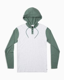 0 Boy's Pick Up Knit Hoodie Green BL904PUH RVCA