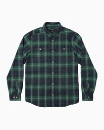 0 Boy's Bone Flannel Long Sleeve Shirt  BM503BON RVCA