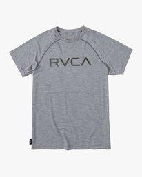 0 Boy's Micro Mesh Short Sleeve Surf Tee  BR03NRMM RVCA