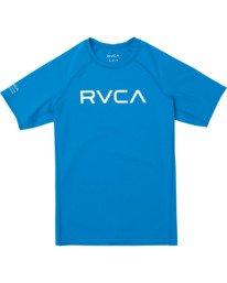 0 Boys RVCA Short Sleeve Rashguard Blue BR10TRSR RVCA