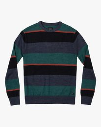 0 Boy's Kemper Striped Sweater Blue BV31WRKE RVCA