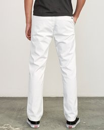 1 Weekend Stretch  - Trousers White F1PTRARVF7 RVCA