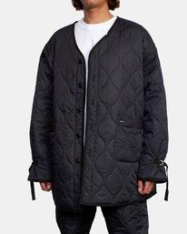 4 Linning Quilting Jacket Black GVYJK00100 RVCA
