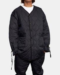 7 Linning Quilting Jacket Black GVYJK00100 RVCA