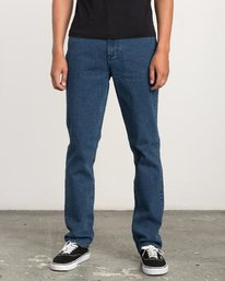 0 Daggers - Slim-Straight Jeans for Men Blue L1PNRERVF8 RVCA