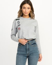 0 GRILLO PATCH CREW Grey L3CRRARVF8 RVCA