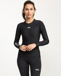 0 VA Compression - Sports Long Sleeves T-Shirt for Women Black L4TPWCRVF8 RVCA