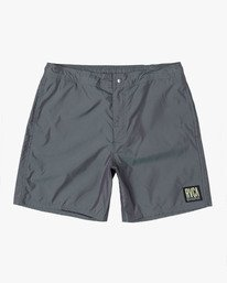 "0 HAZED 17"" ELASTIC SHORT Grey M1021RHE RVCA"