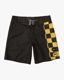 "0 Birdwell Point Panic 18"" Boardshort Black M102PRPP RVCA"