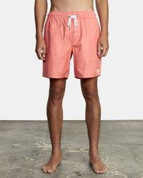 "0 Opposites Elastic Boardshorts 17"" Pink M1051ROE RVCA"