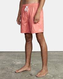 "2 Opposites Elastic Boardshorts 17"" Pink M1051ROE RVCA"