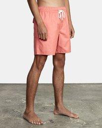 "5 Opposites Elastic Boardshorts 17"" Pink M1051ROE RVCA"