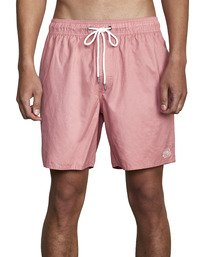 """1 Opposites Elastic Boardshorts 17"""" Red M1051ROE RVCA"""