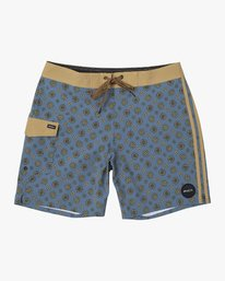 "0 RESTLESS BOARDSHORT 17"" Blue M10625RT RVCA"