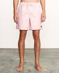 """0 CLUB 17"""" ELASTIC SHORT Pink M1071RCE RVCA"""