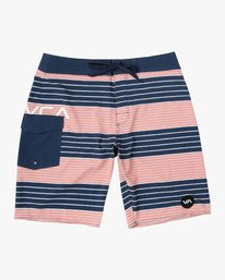 "0 Uncivil Stripe 20"" Boardshort Grey M164TRUN RVCA"