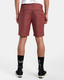 """2 Back In Hybrid Shorts 19"""" Red M200QRBA RVCA"""