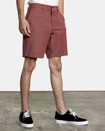 """4 Back In Hybrid Shorts 19"""" Red M200QRBA RVCA"""