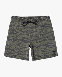 "0 ESCAPE PRINT 17"" ELASTIC SHORT Brown M2011REP RVCA"