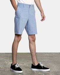 "3 Balance Hybrid Shorts 20"" Blue M2031RBH RVCA"