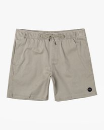"0 ESCAPE 17"" ELASTIC SHORT Beige M2041RES RVCA"
