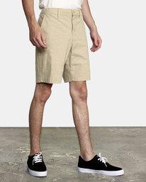 "4 All Time Solid Coastal Hybrid Shorts 19"" Beige M206QRCO RVCA"
