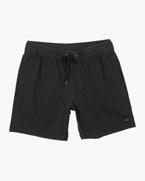 "0 ESCAPE 17"" ELASTIC SHORT Black M2073REE RVCA"