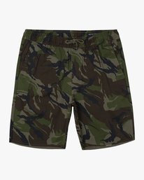 "0 Weekend 19"" Elastic Short Brown M207TRWE RVCA"