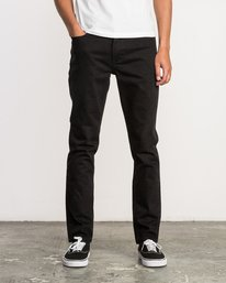 0 Hexed Slim Fit Denim Jeans Black M305QRHD RVCA