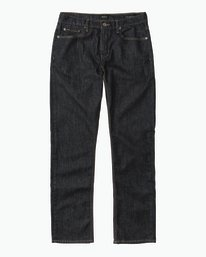 0 Stay RVCA Straight Fit Denim Jeans Blue M307QRSR RVCA