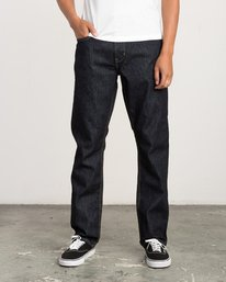 0 Stay RVCA Straight Fit Denim Jeans Blue M307QRSR RVCA