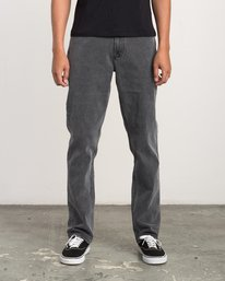 0 Stay RVCA Straight Fit Denim Jeans Grey M308QRSR RVCA