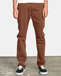 0 DAGGERS SLIM fit PANT Red M309QRDC RVCA